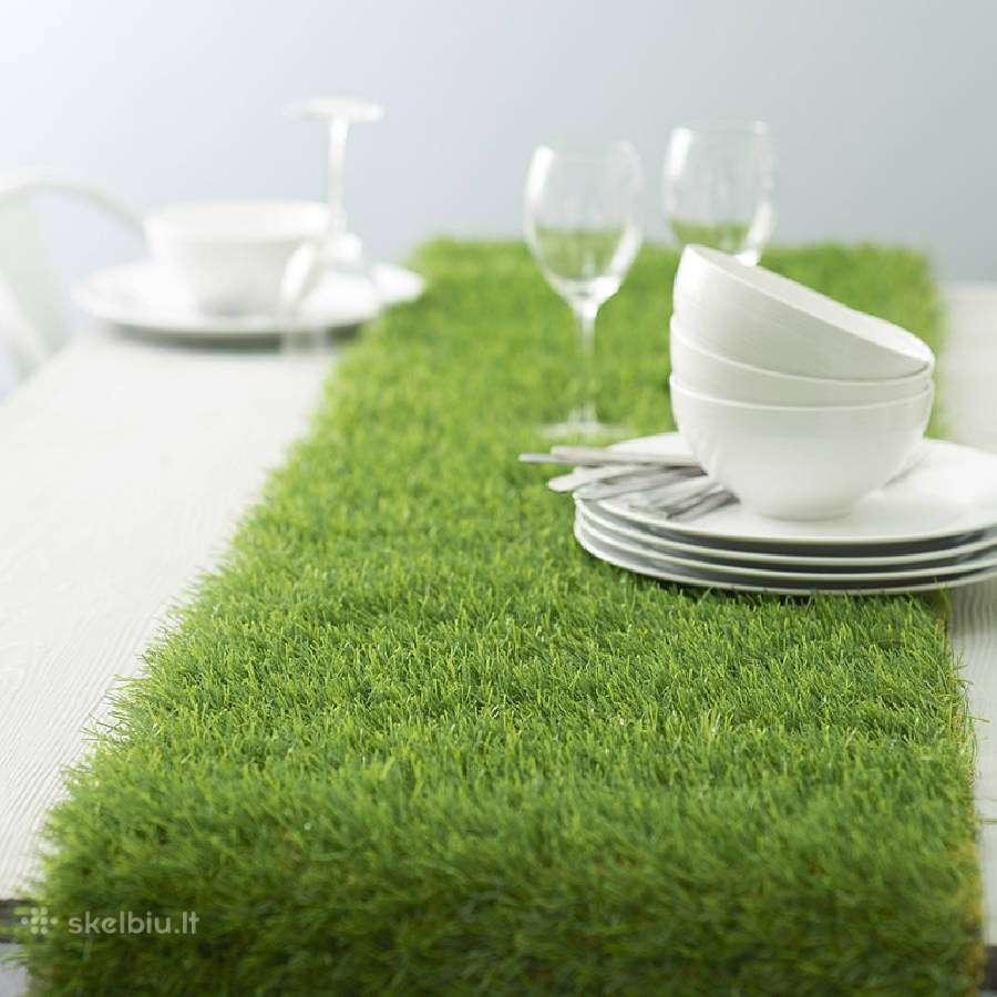 Kokybiška dirbinė žolė interjerui ir eksterjerui