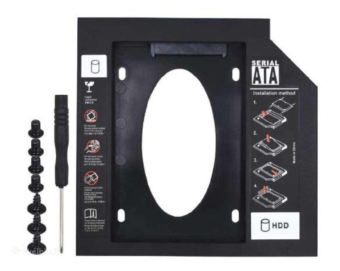 HDD Caddy 9.5 ir 12.7 Sata 3.0 CD-rom adapteris