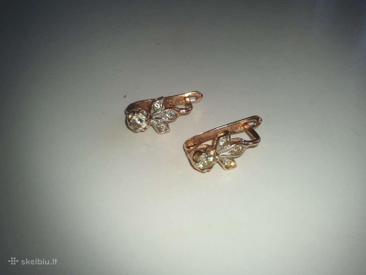 Auksiniai auskarai 3vnt