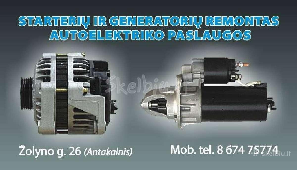 Starterių Generatorių Remontas