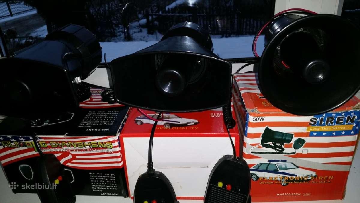 Automobiline sirena su mikrafonu ruporas 25e
