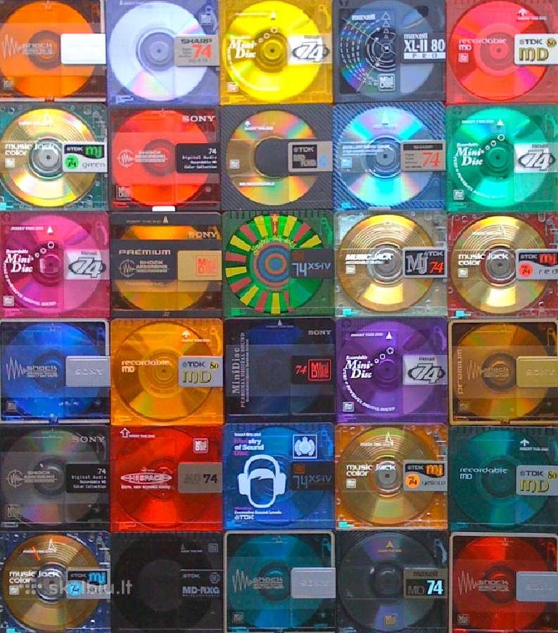 Minidiskai, kasetes Maxell.tdk.sony.chrome