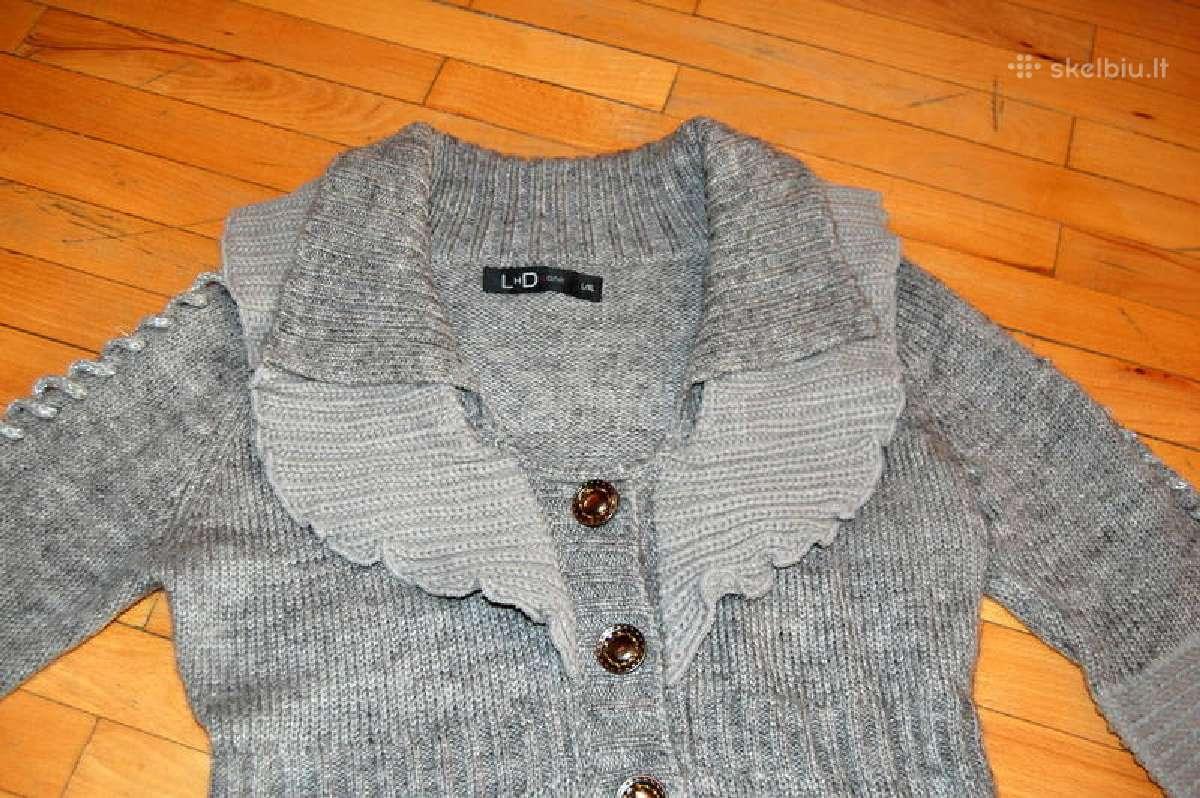 Naujas ilgas susagstomas megztinis