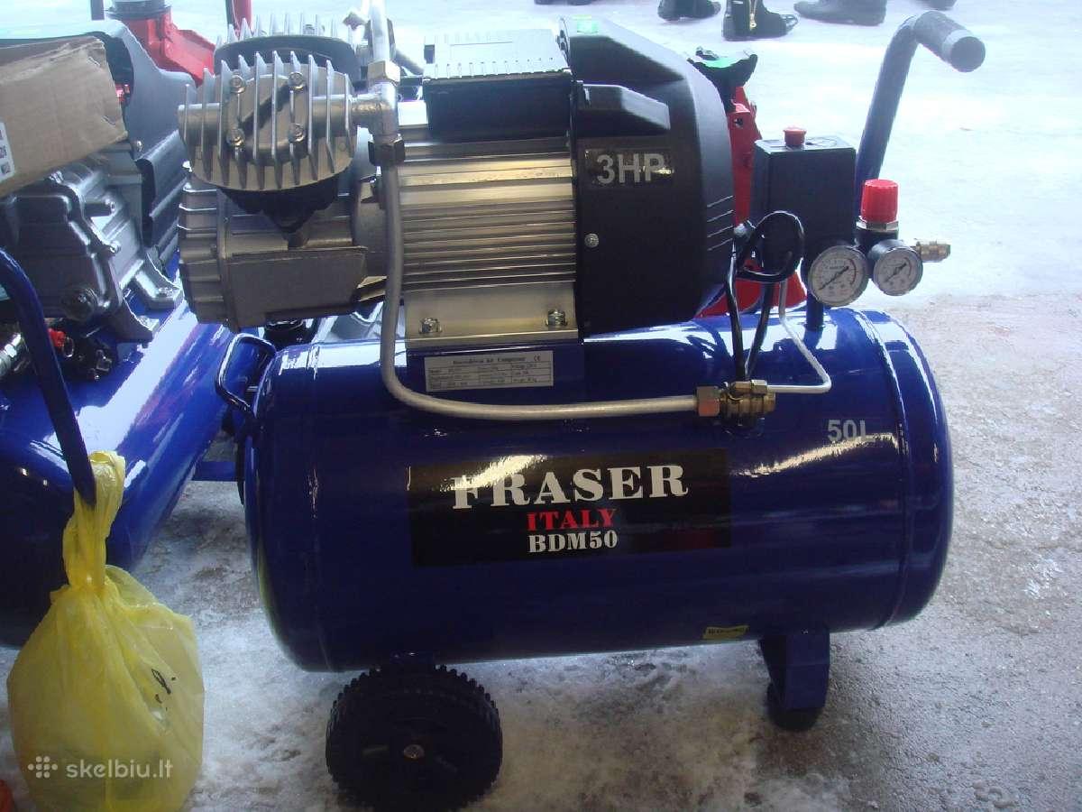 Kompresorius 2 cilindų 50l Kompresoriai