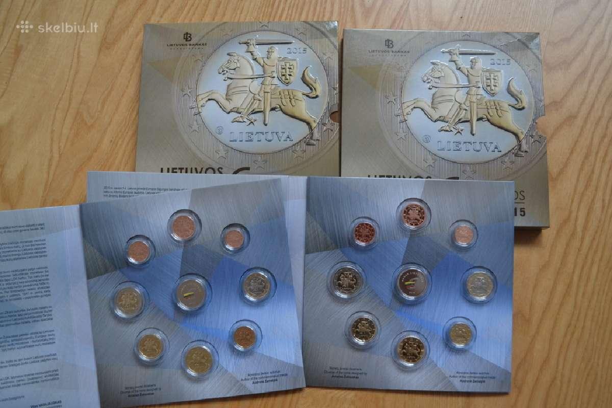 2015 metų laidos apyvartinių monetų rinkinys proof