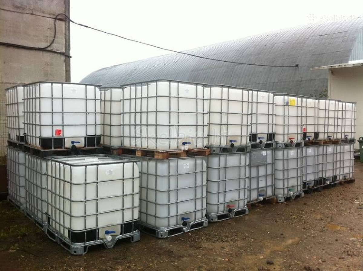 Parduodame 1000l ibc konteinerius talpas