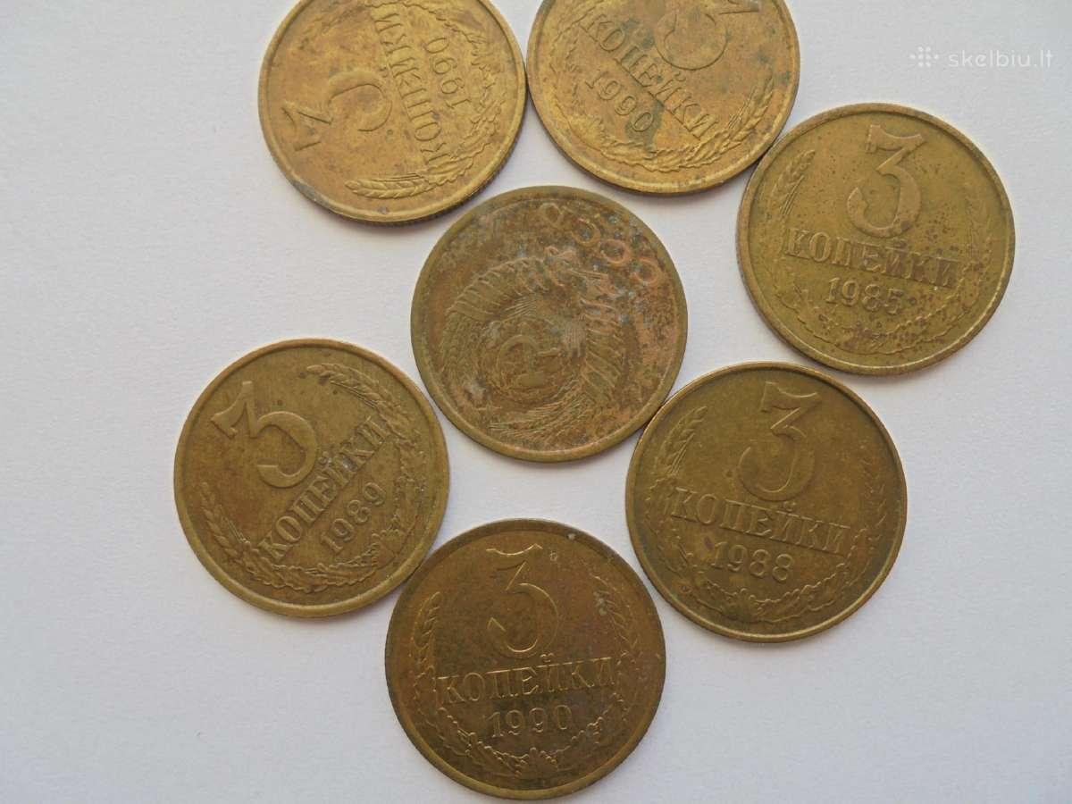 Tarybinių laikų 3 kapeikų monetos