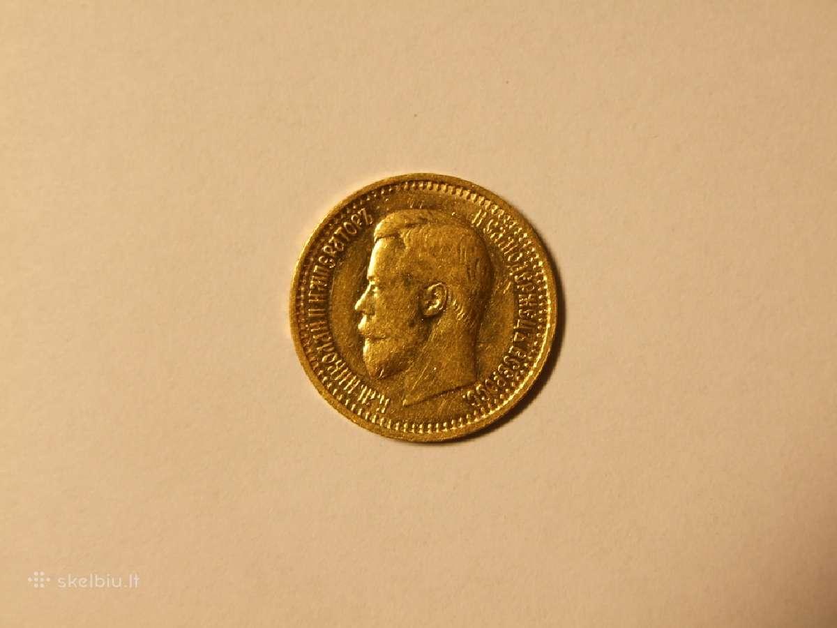 7,5 auksinio rublio