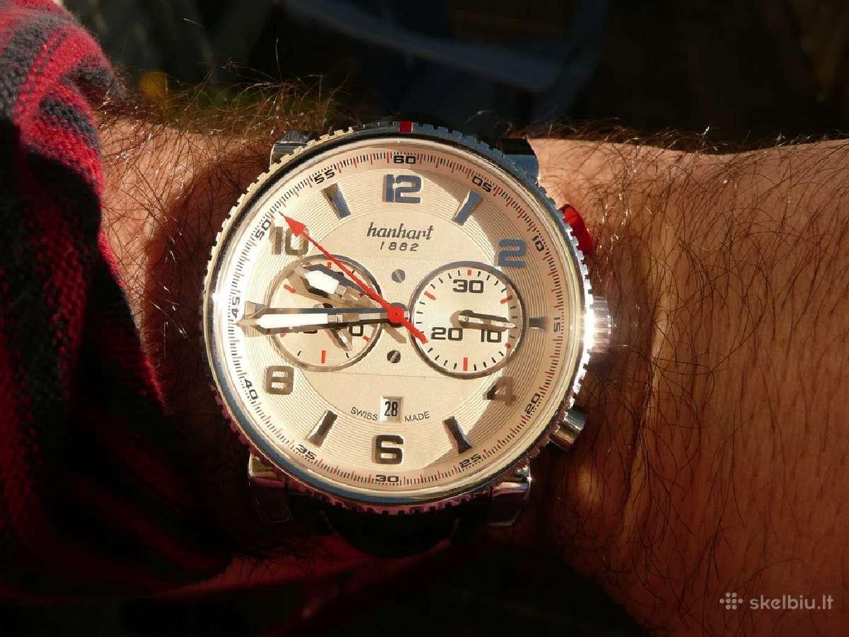 Hanhart Primus Pilot Chronograph Stahl 740.220