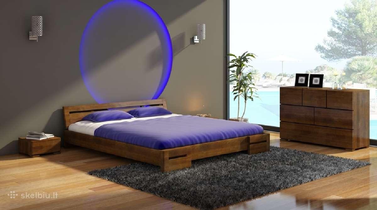 Skandinavisko dizaino medine lova Anna