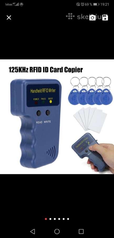 Rfid 125khz raktu kopijuotojas