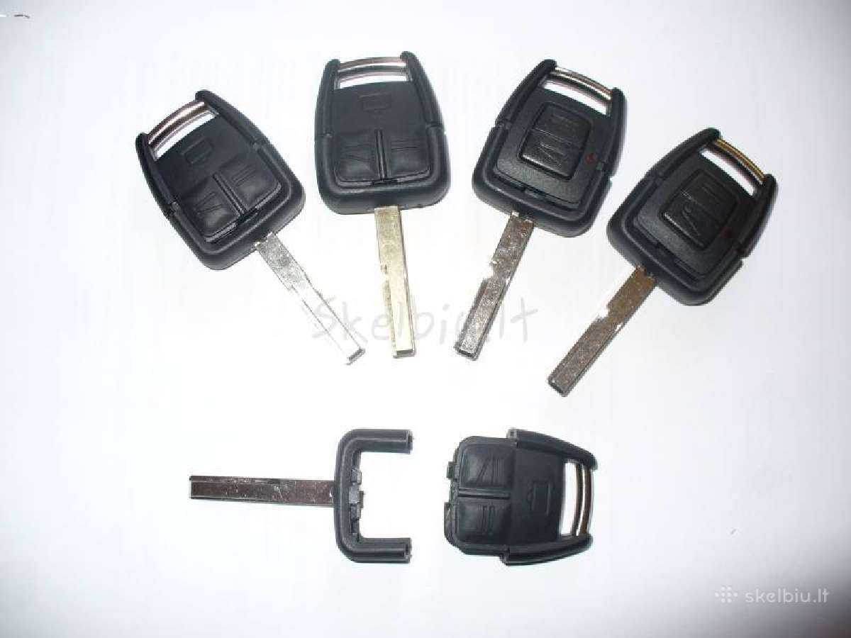 Opel užvedimo raktai+mikroschemos 2 arba 3 knopkiu
