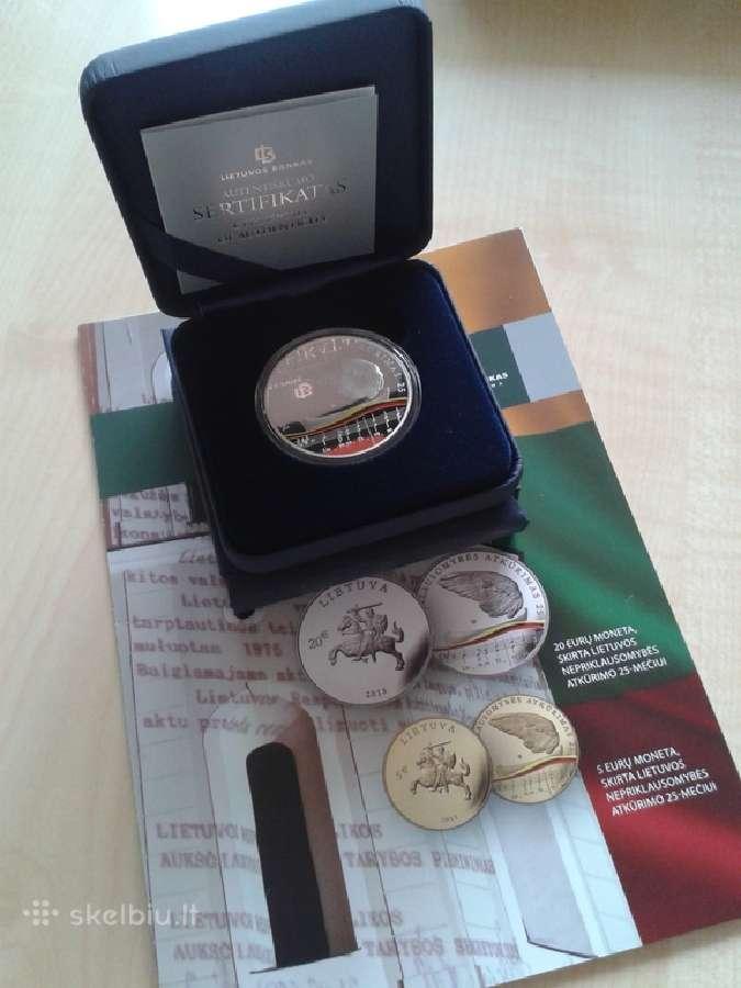 20 eurų 2015 - Nepriklausomybės 25-mečiui