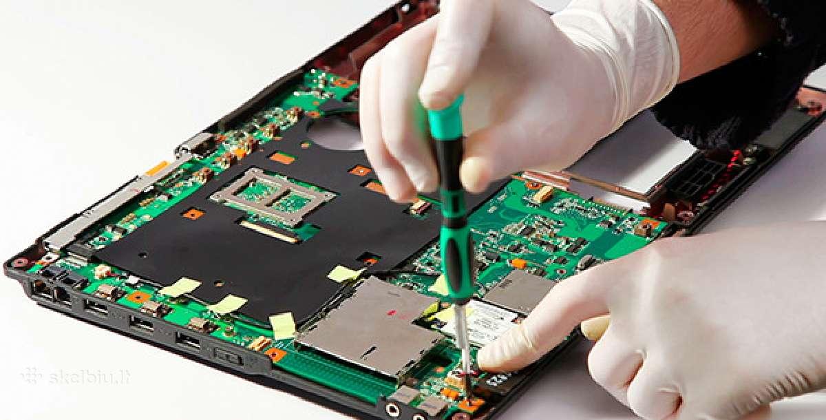 Notebooku remontas, atnaujinimas baterijos ekranai