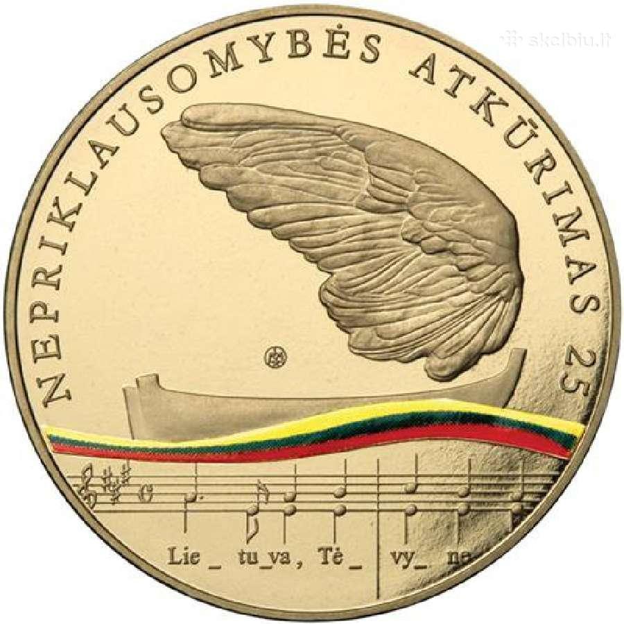25-mečiui - 5 Eurų kolekcinė moneta