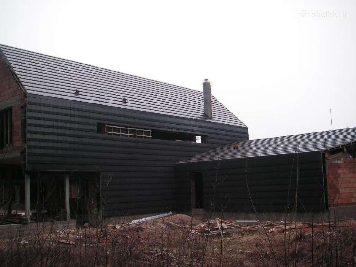 Stogų dengimas, karkasiniu namu statyba