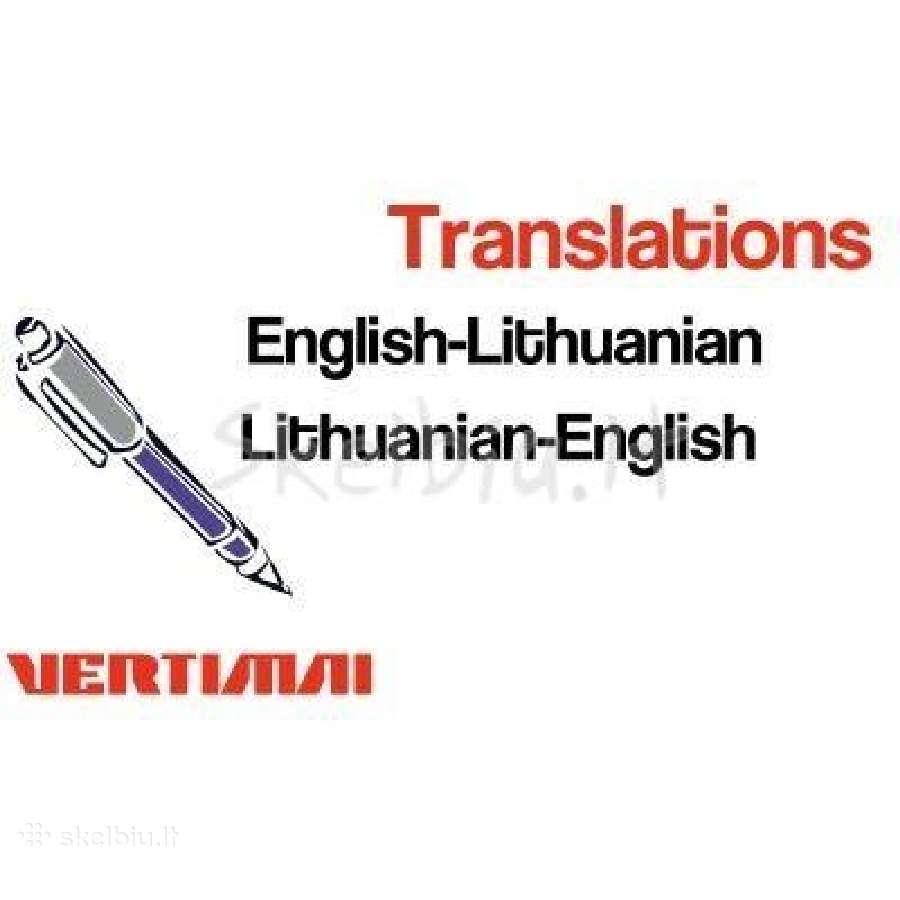 Verčiu iš/į anglų kalbą. Skubūs vertimai.