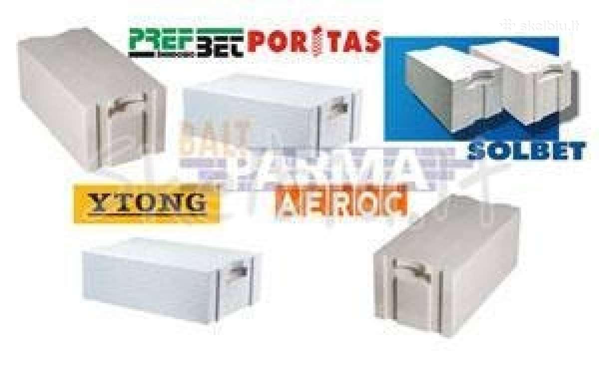 Akyto betono blokeliai Ytong Aeroc nuo 64 Eur