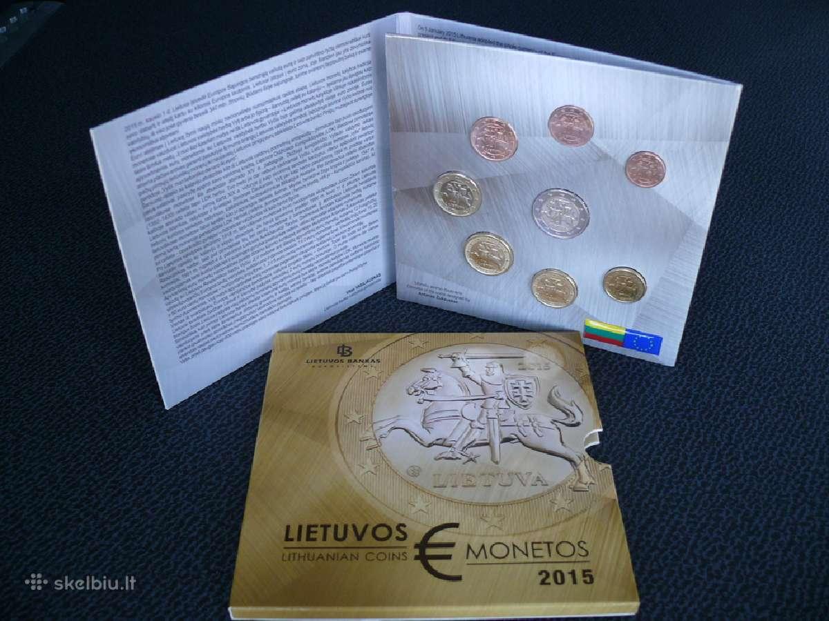 2015m. monetų rinkinys už savikainą