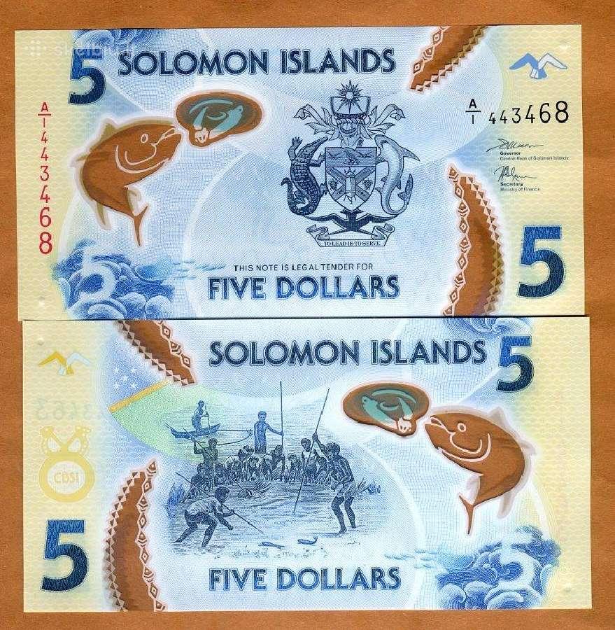 Saliamono Salos 5 Dollars 2019m. P-new Unc