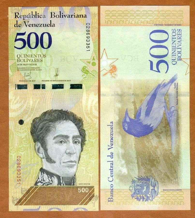 Venesuela 500 Bolivares 2018m. P108 Unc