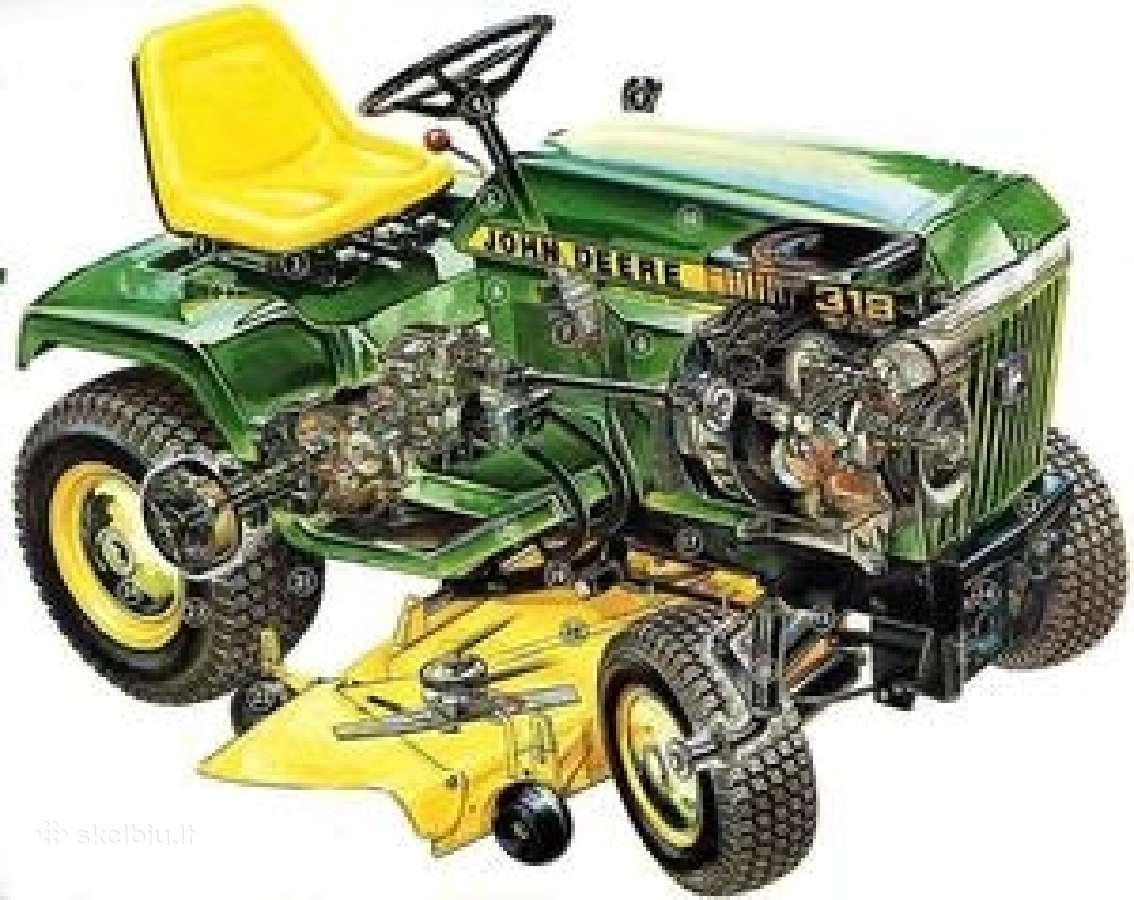 Visų markių sodo traktoriukų remontas