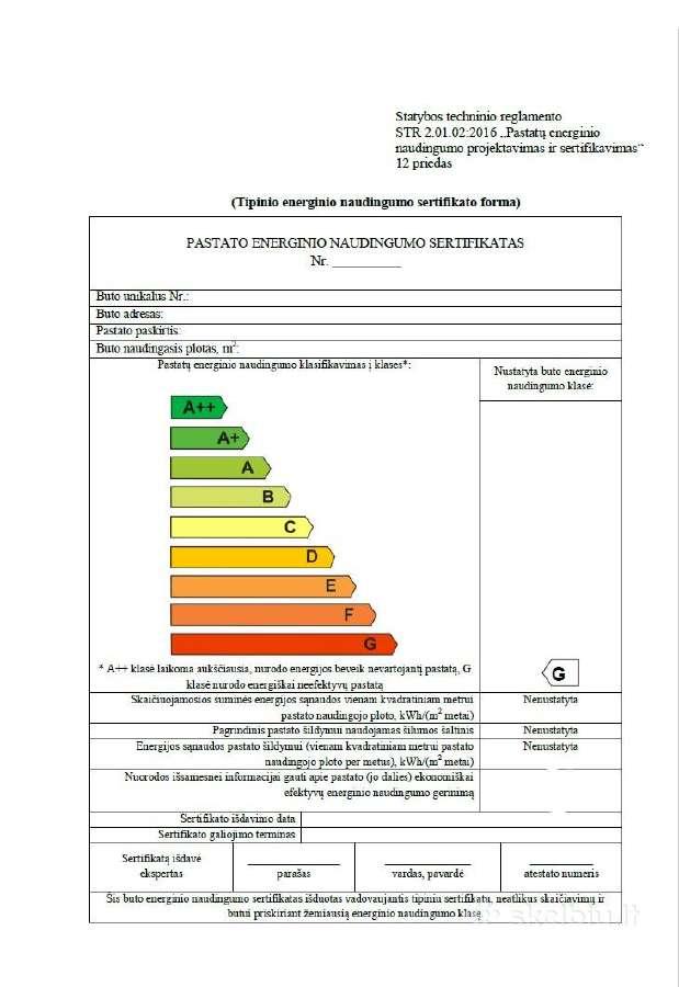 Pastatų energinio naudingumo sertifikavimas