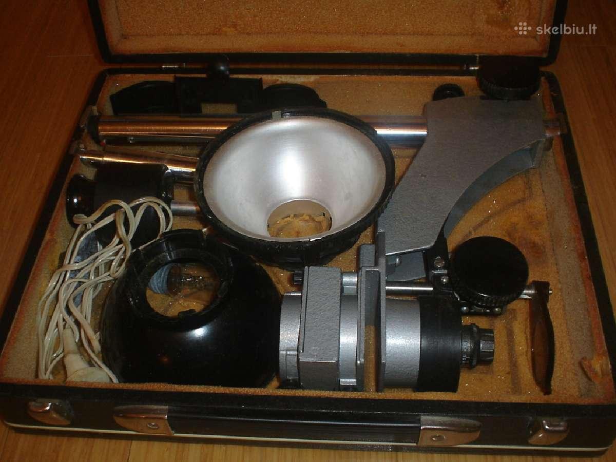 Senas Fotoapparatas ir ivairus priemones