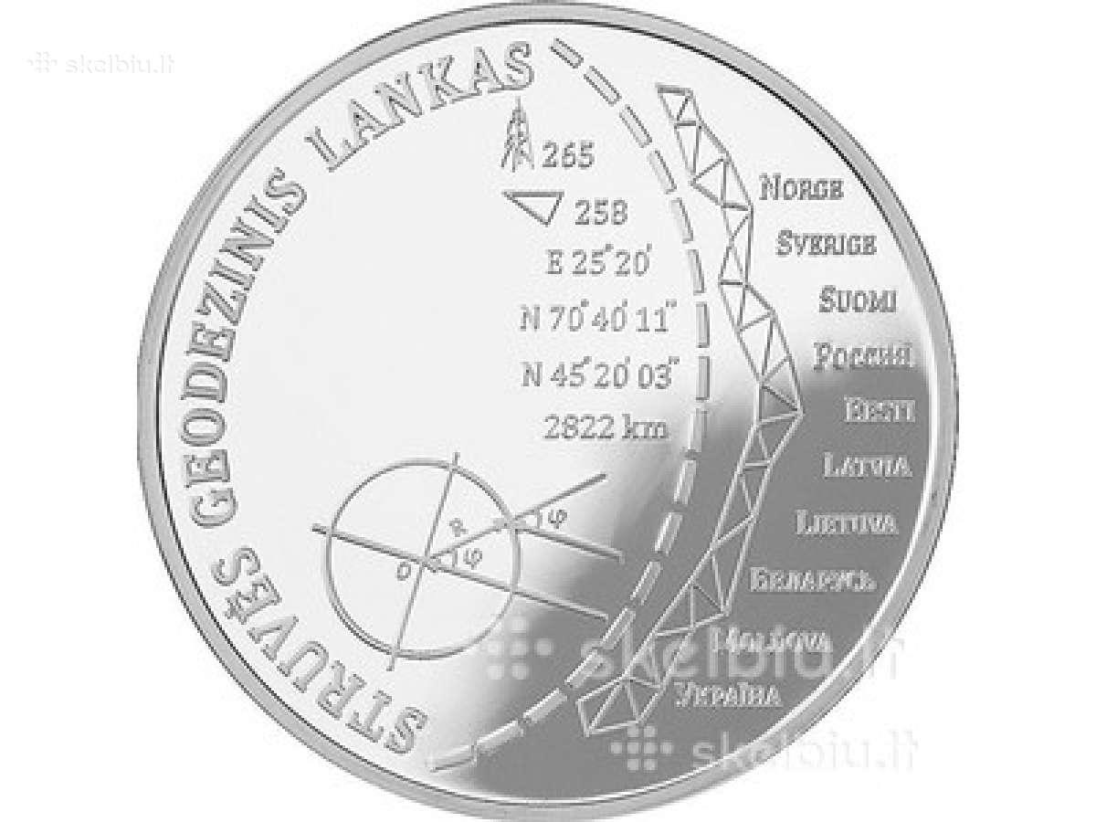 20 Eurų moneta, Struvės geodeziniam lankui, Unesco