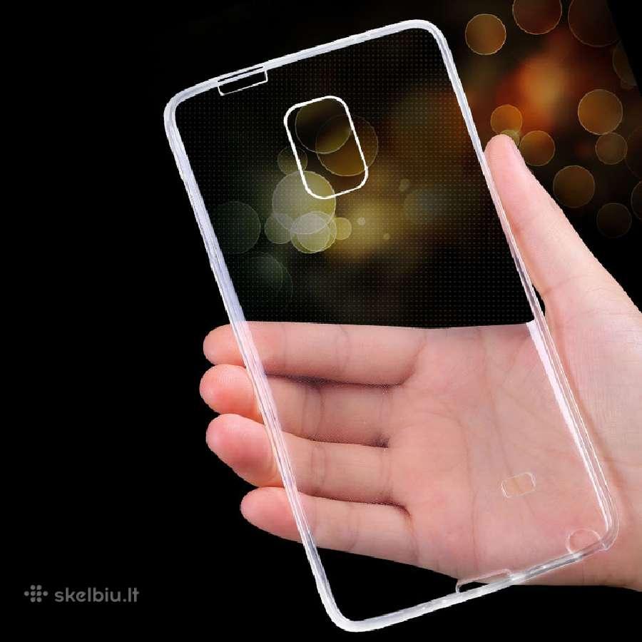 Skaidrūs 0,3mm silikoniniai dėklai telefonams