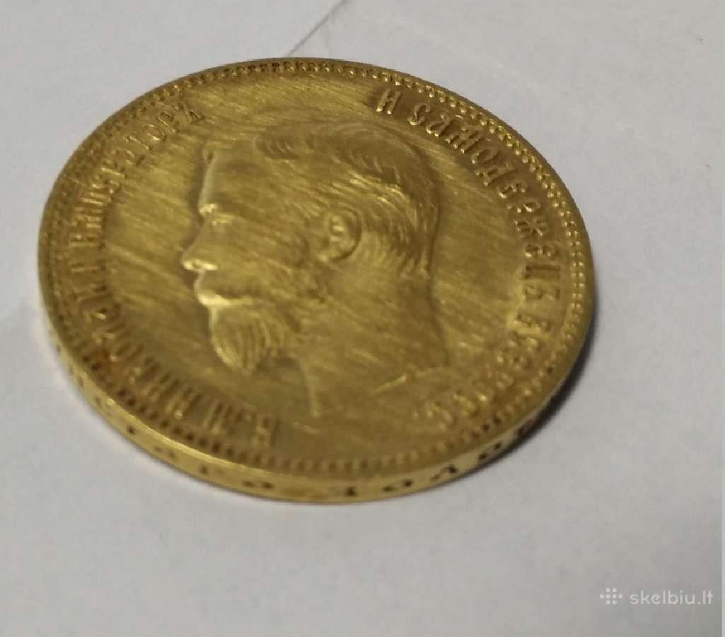 Pirksiu Nikolajaus II 10 rublių arba 5 rubliu