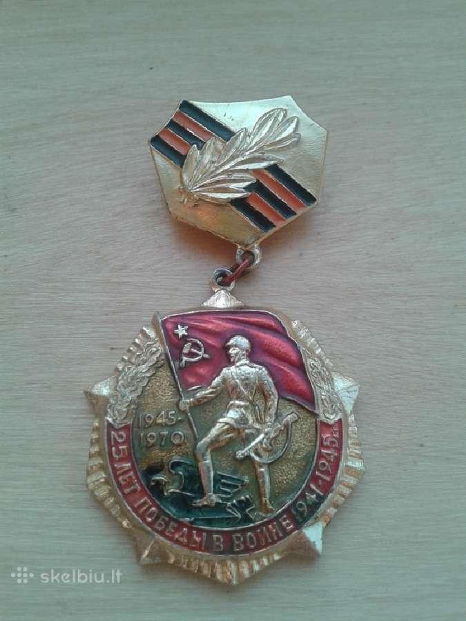 Medalis 25 metai pergalei