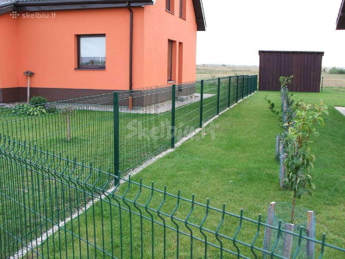 Tvoros, vartai segmentinės, tinklinės medinės