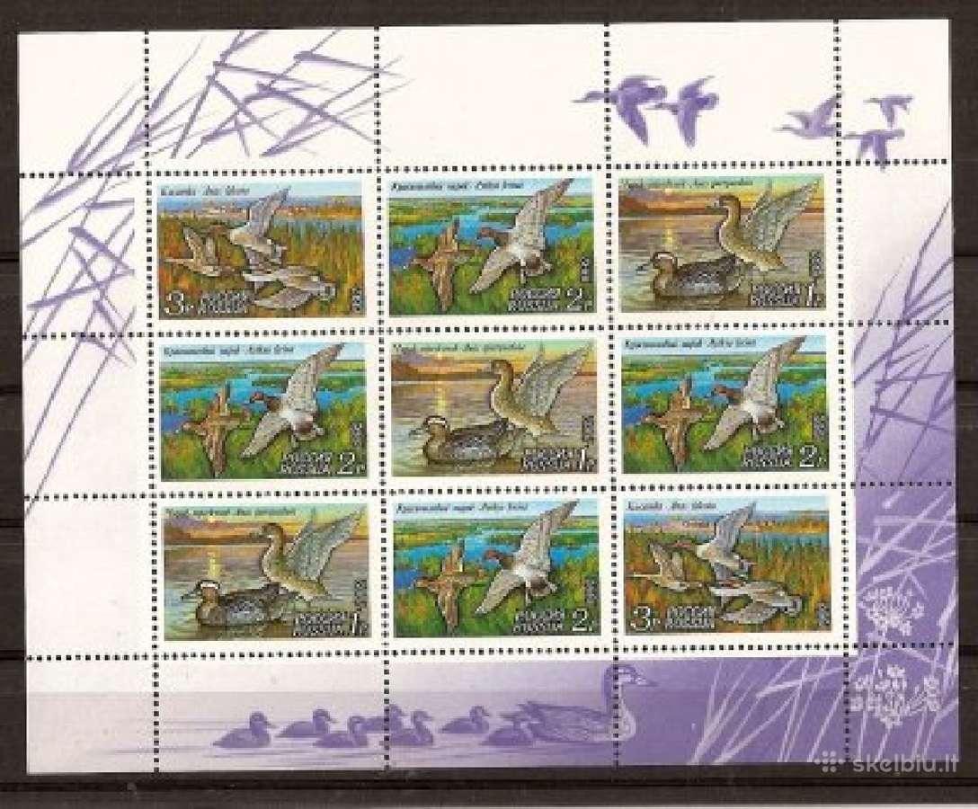"""Parduodu Rusijos pašto ženklus tema """"fauna """""""