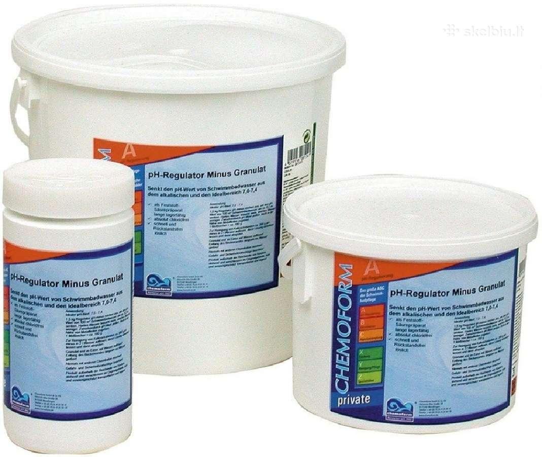 Chloras, ph, flokuliantas, alba baseinui chemija