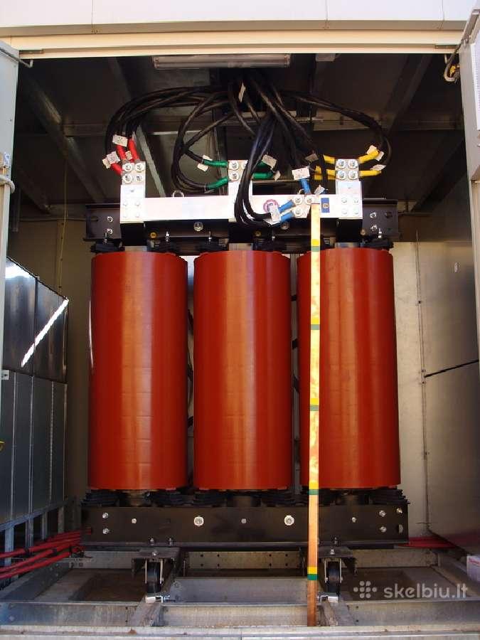 10/0,4kV 1600kVA sausas transformatorius