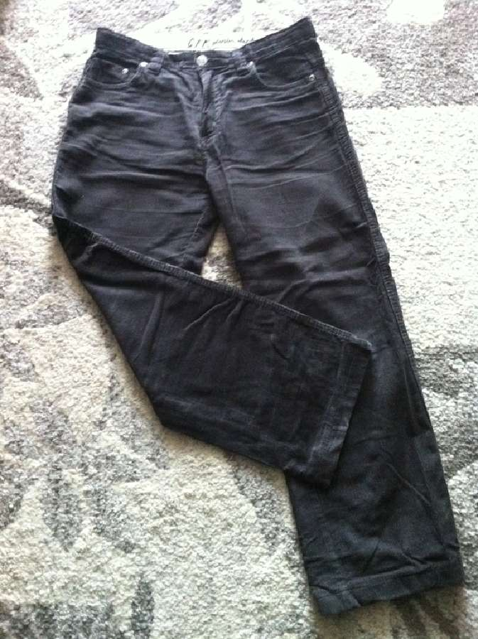 Tamsiai rudos velvetinės kelnės