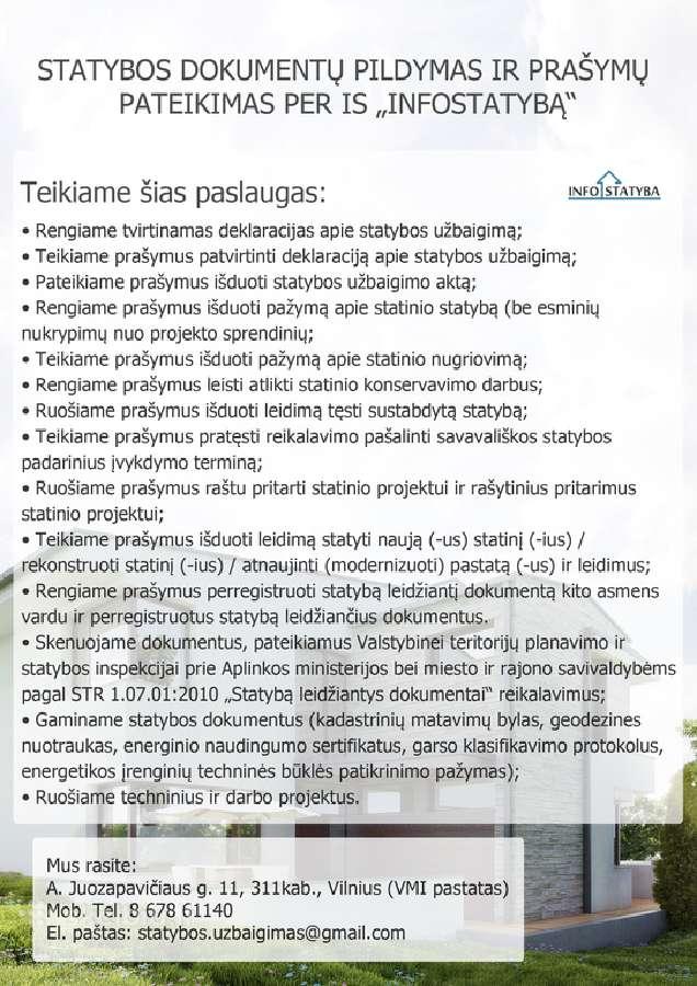 Statybos dokumentų pateikimas per