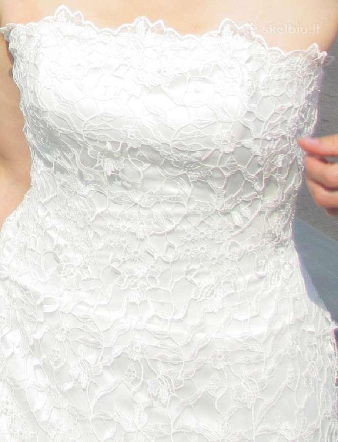 Daili prancūziška vestuvinė suknelė