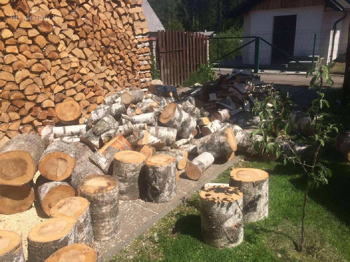 Ivairiu rusiu malkos skaldytos sausos 25 eur. 1m