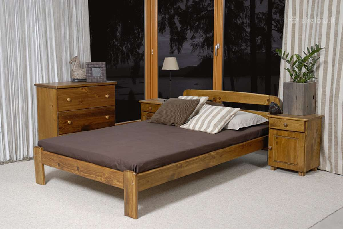 Akcija! Naujos medinės lovos tik nuo 70eur