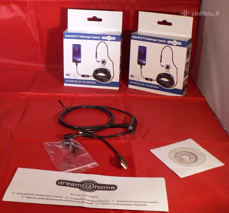 Endoskopinė lanksti kamera 7mm su led pasvietimu - Skelbiu.lt