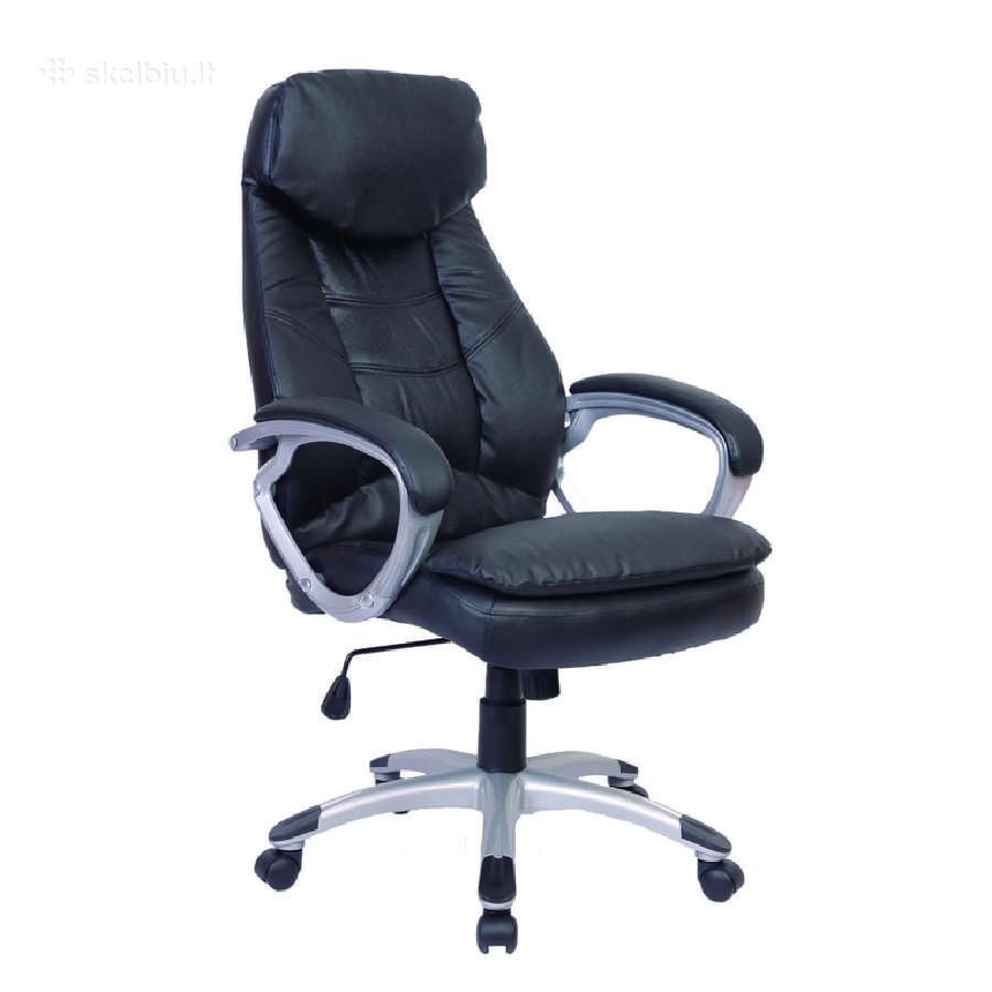 Odinė Dizainerio Biuro Kėdė, Juoda - vidaxl