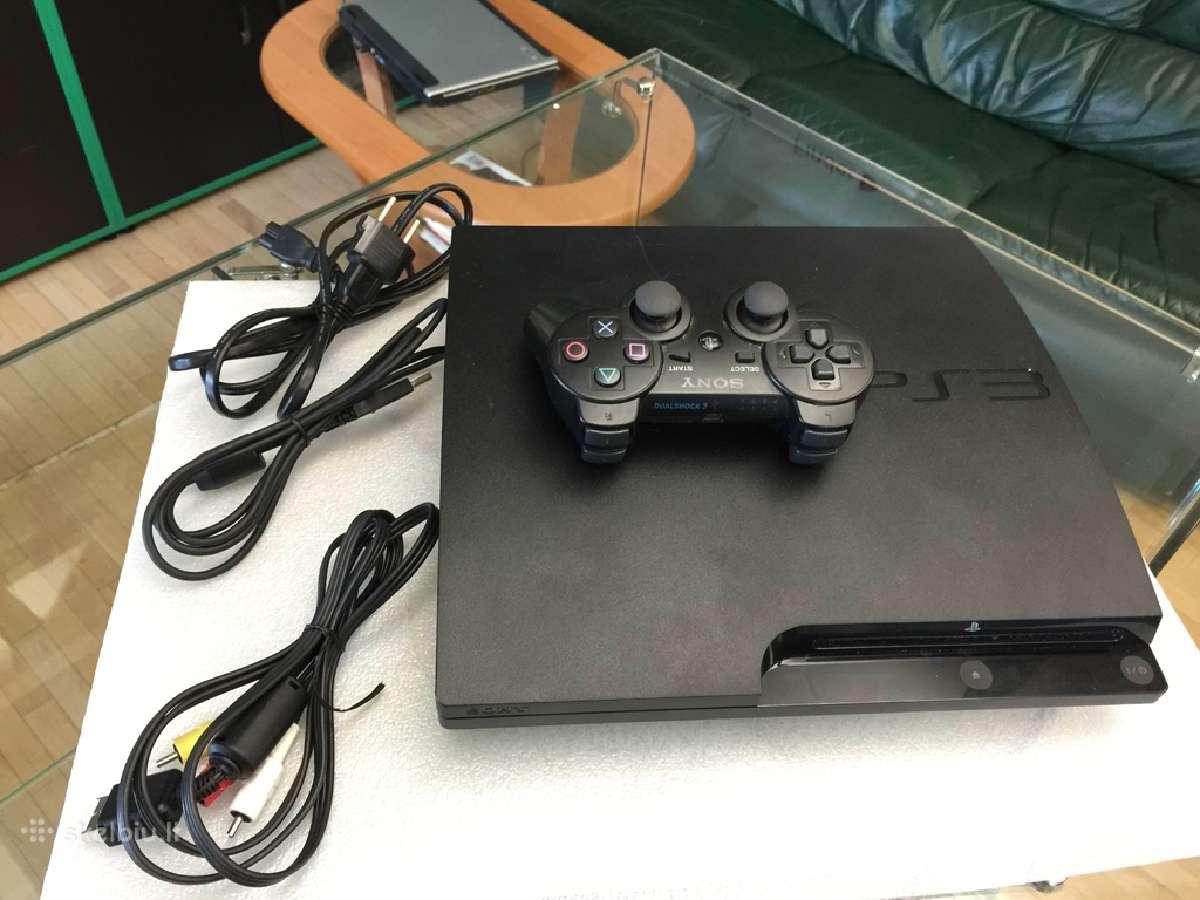 Sony PS3 slim 500gb atrištas su garantija