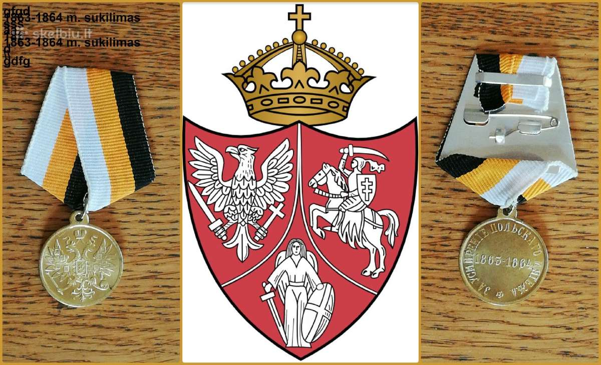 """Medalis """"Už 1863-1864 sukilimo numalšinimą"""" kopija - Skelbiu.lt"""