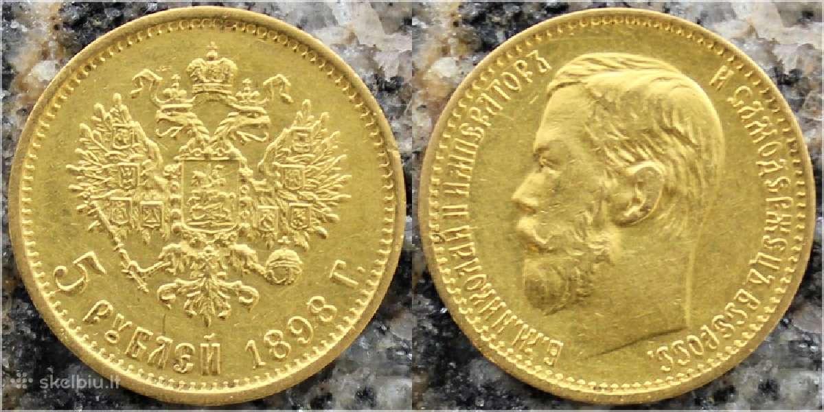 Perku 1898-1911 5 rublius Nikolajaus II
