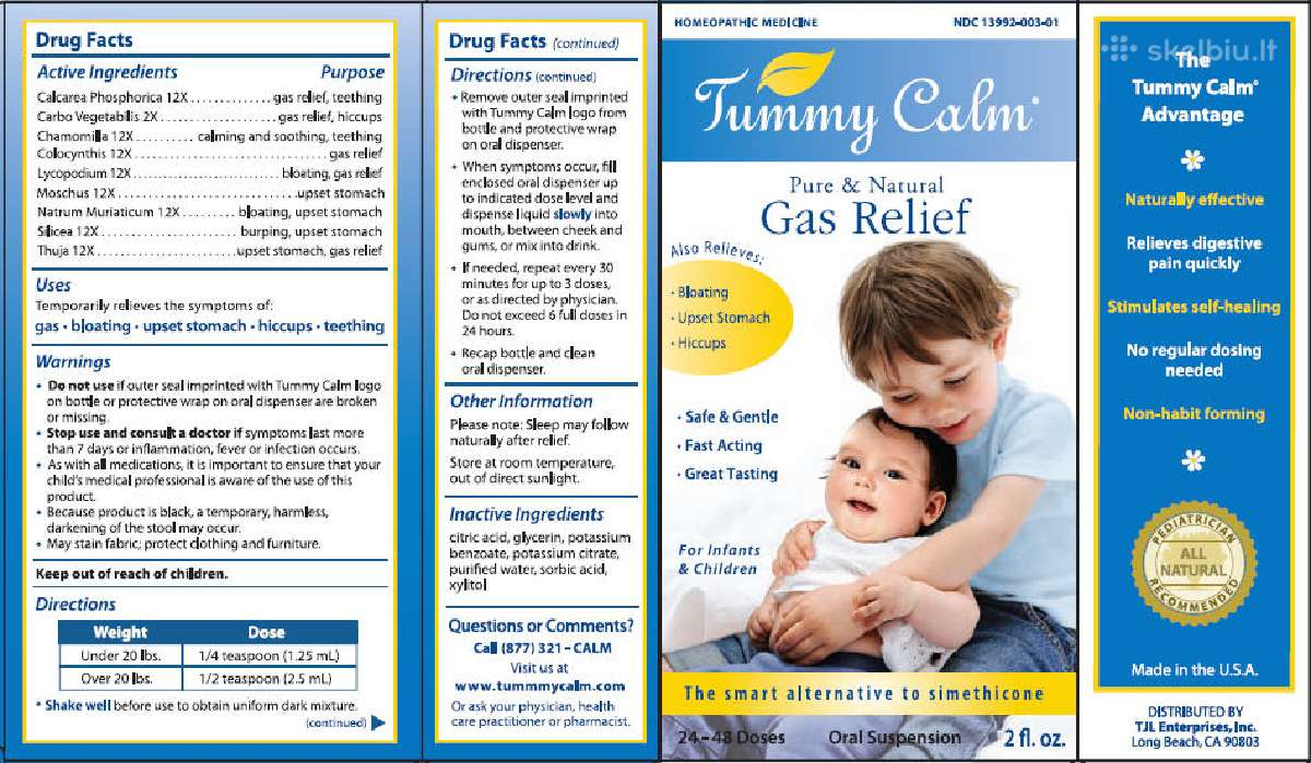 Tummy Calm kūdikiams ir vaikams