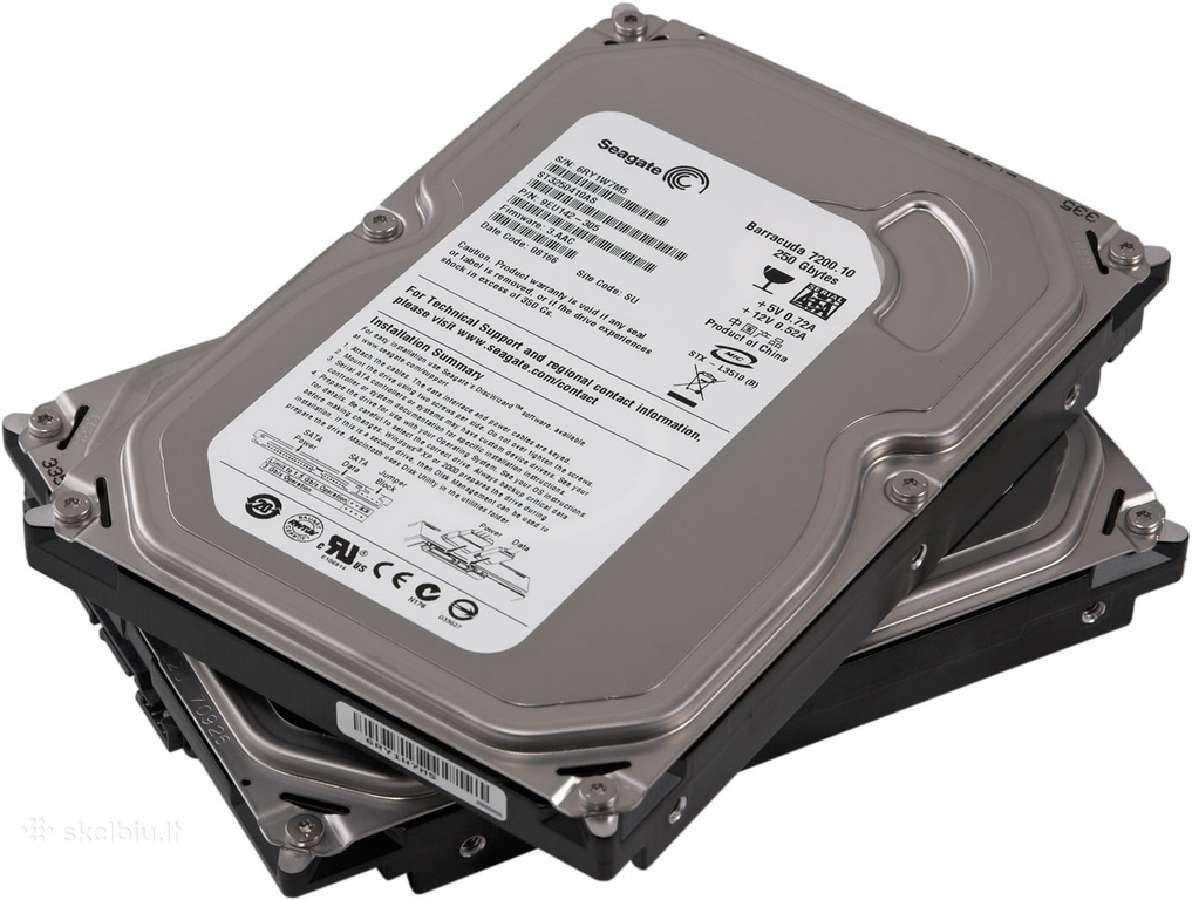Vidiniai ir išoriniai diskai (HDD), laikikliai