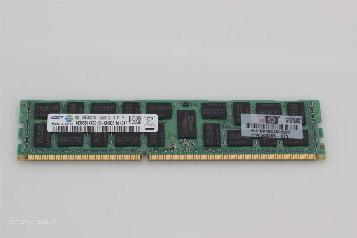 32gb Pc3-10600r (4x8gb) Ecc atmintis