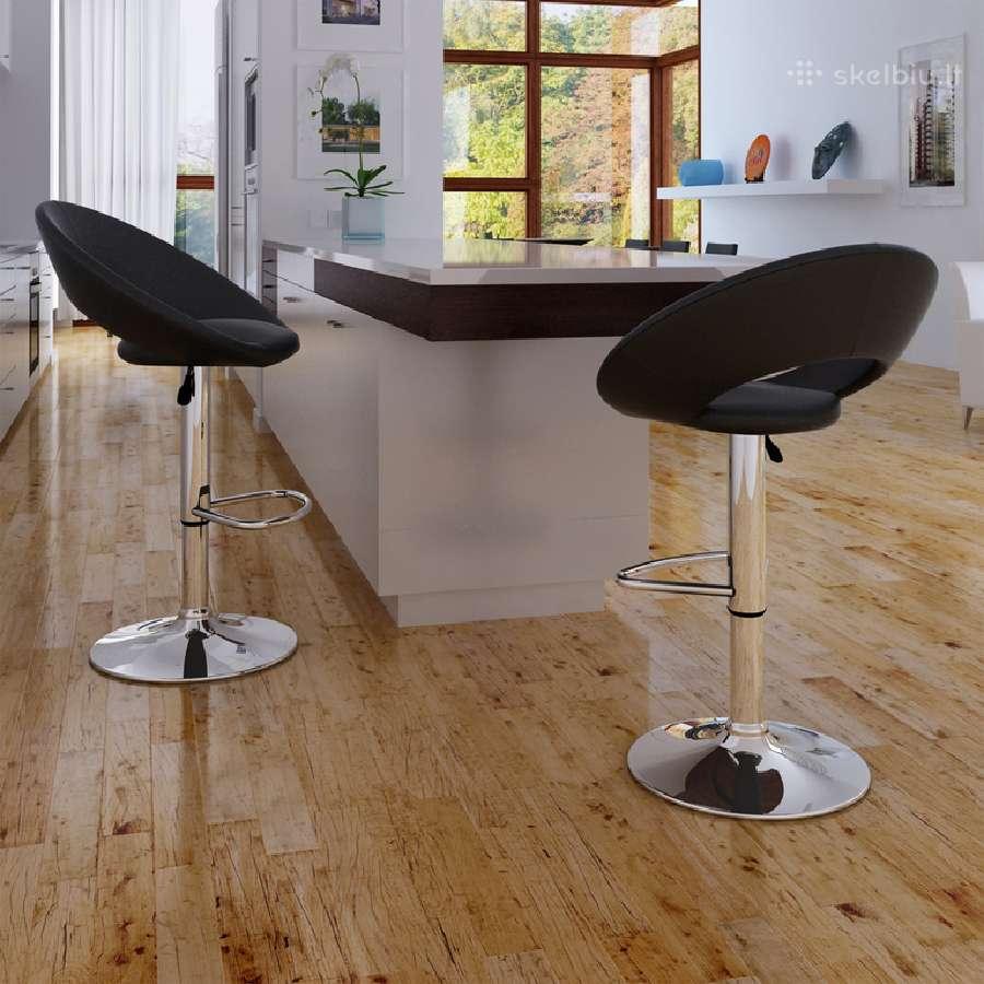 2 Baro Kėdės, Juodos vidaxl